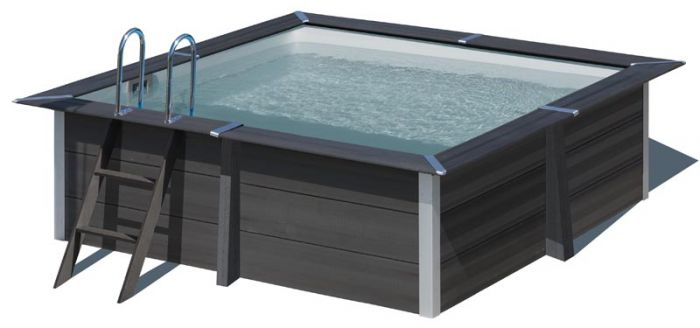 Gre Composite Pool Avantgarde quadratischer Pool 280 x 280 x 96 cm